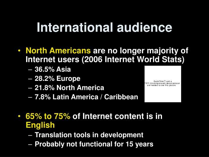 International audience