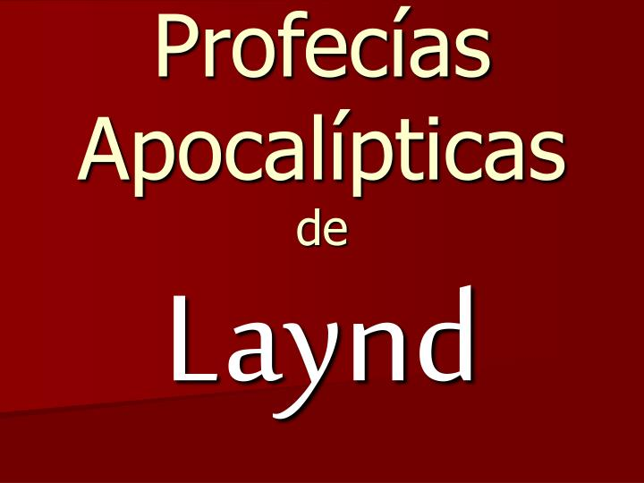 Profec as apocal pticas de