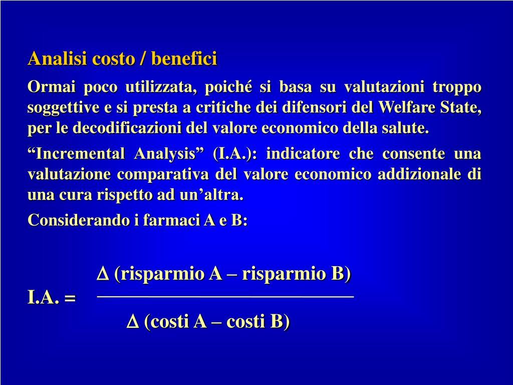 Analisi costo / benefici