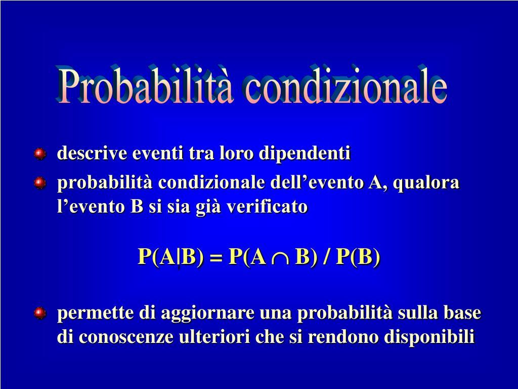 Probabilità condizionale
