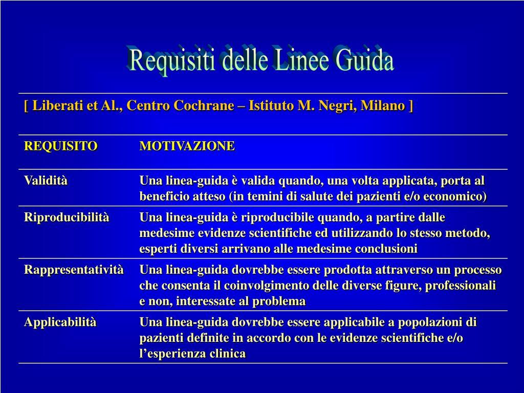 Requisiti delle Linee Guida