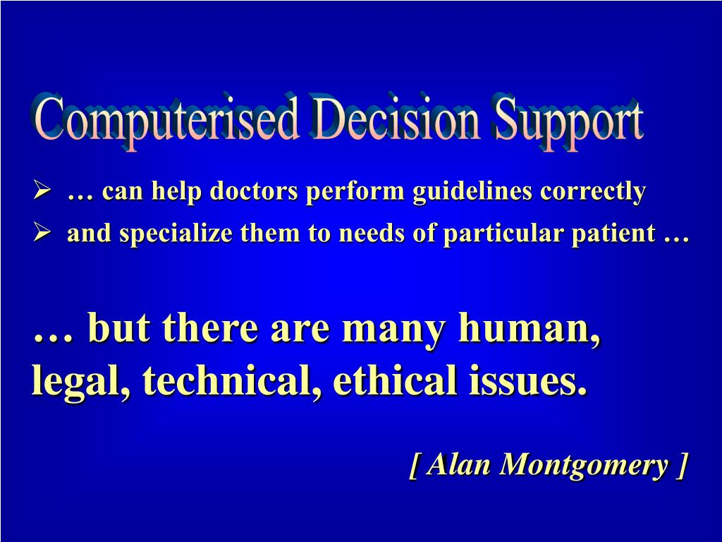 Computerised Decision Support