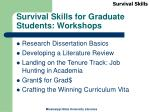 survival skills for graduate students workshops