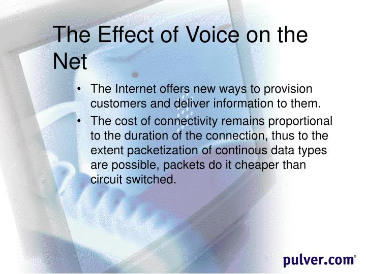 The Effect of Voice on the Net