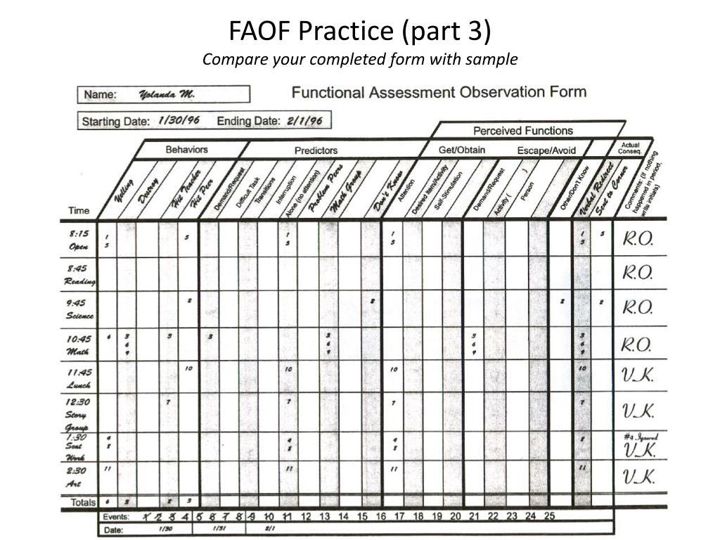 ppt functional assessment observation form tutorial powerpoint presentation id 581331. Black Bedroom Furniture Sets. Home Design Ideas