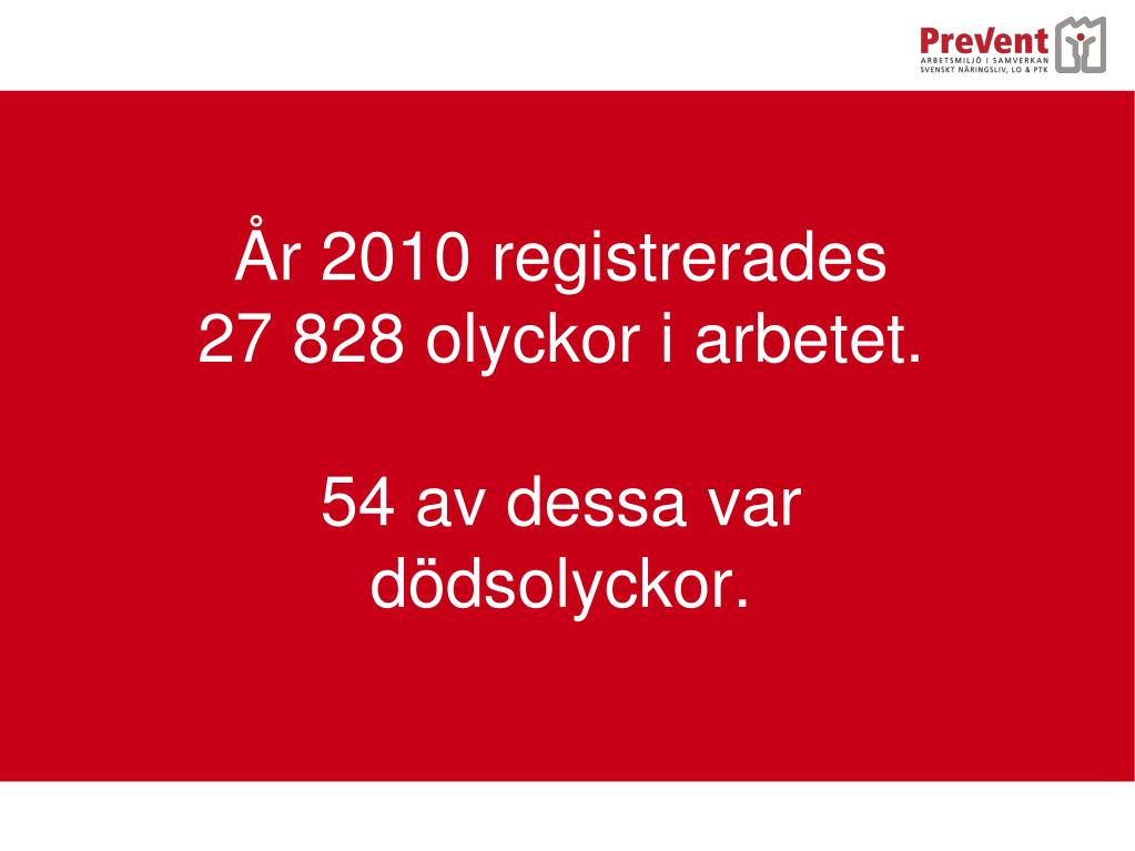 År 2010 registrerades