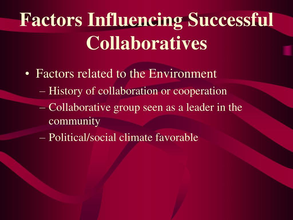 Factors Influencing Successful Collaboratives