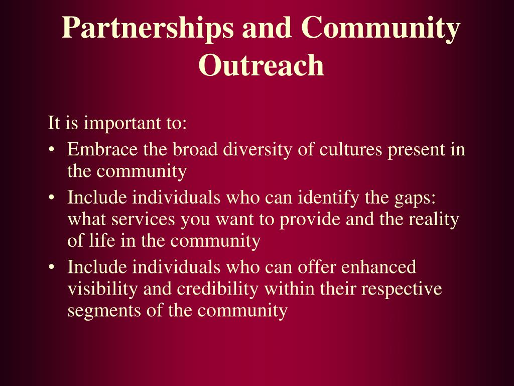 Partnerships and Community Outreach
