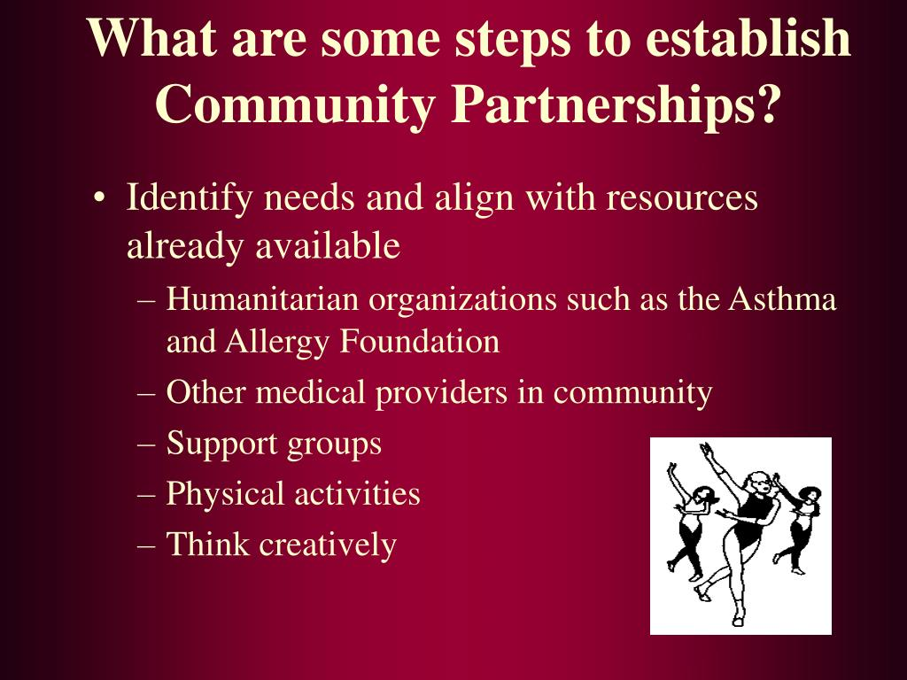 What are some steps to establish Community Partnerships?