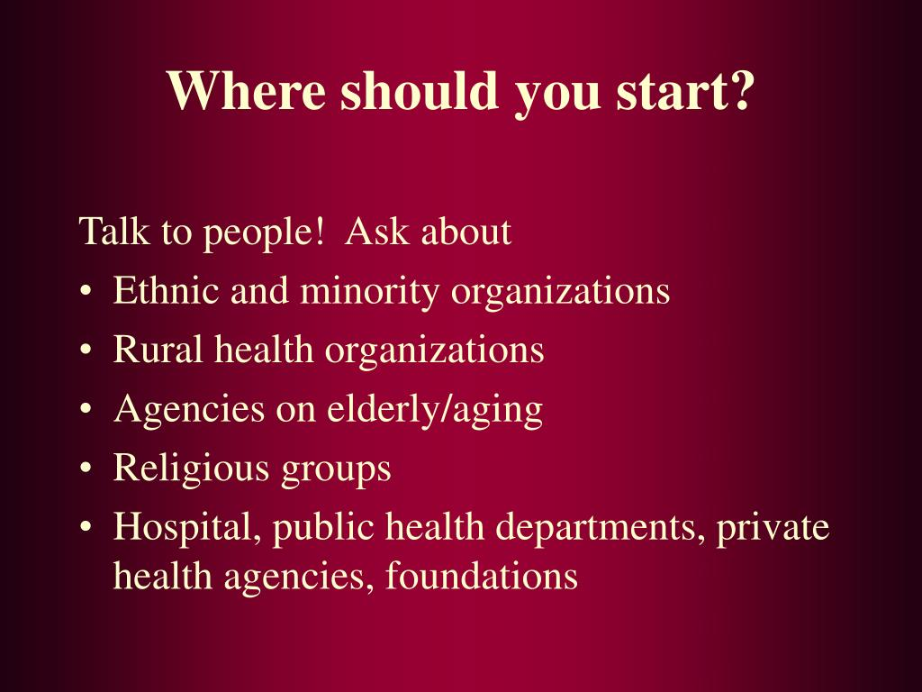 Where should you start?