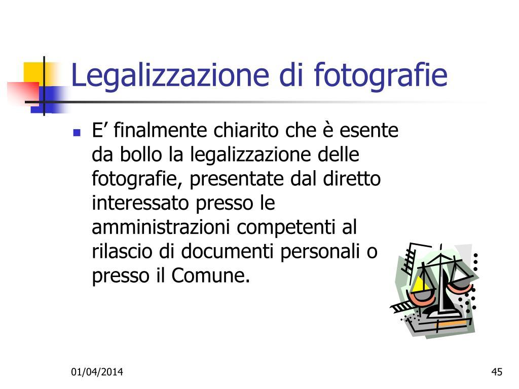 Legalizzazione di fotografie
