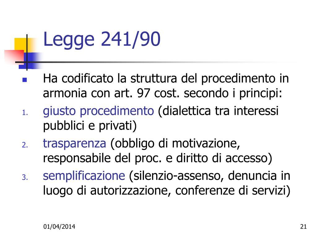 Legge 241/90