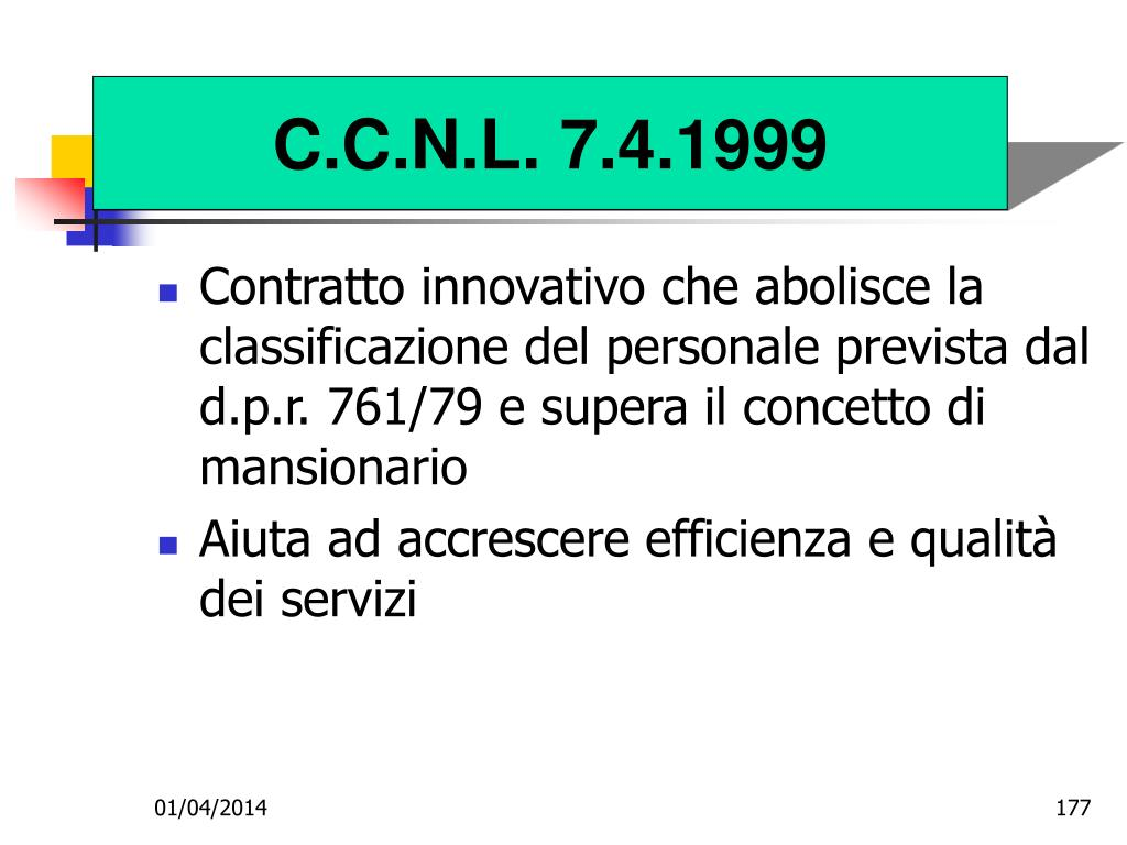 C.C.N.L. 7.4.1999