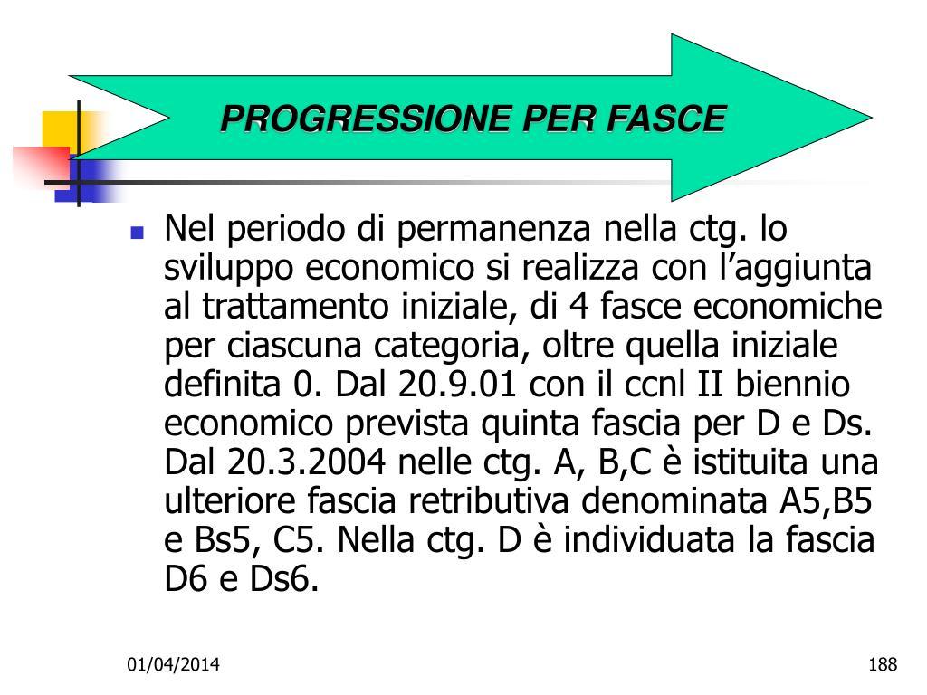 PROGRESSIONE PER FASCE