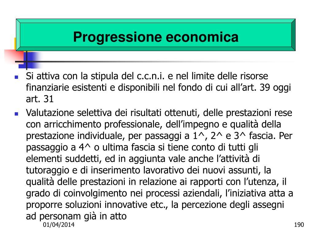 Progressione economica