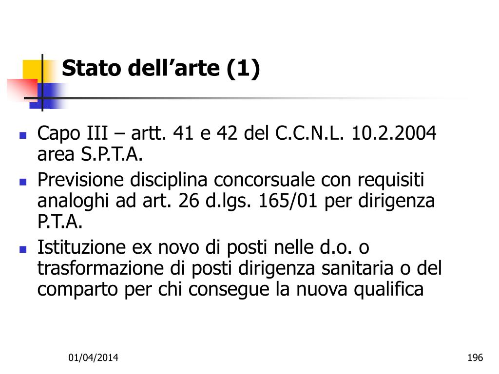 Stato dell'arte (1)