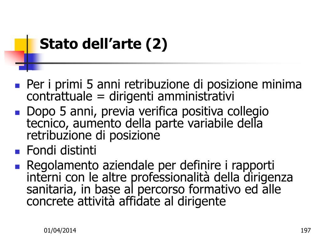 Stato dell'arte (2)