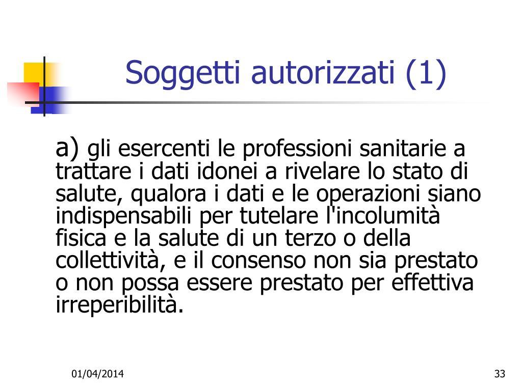 Soggetti autorizzati (1)