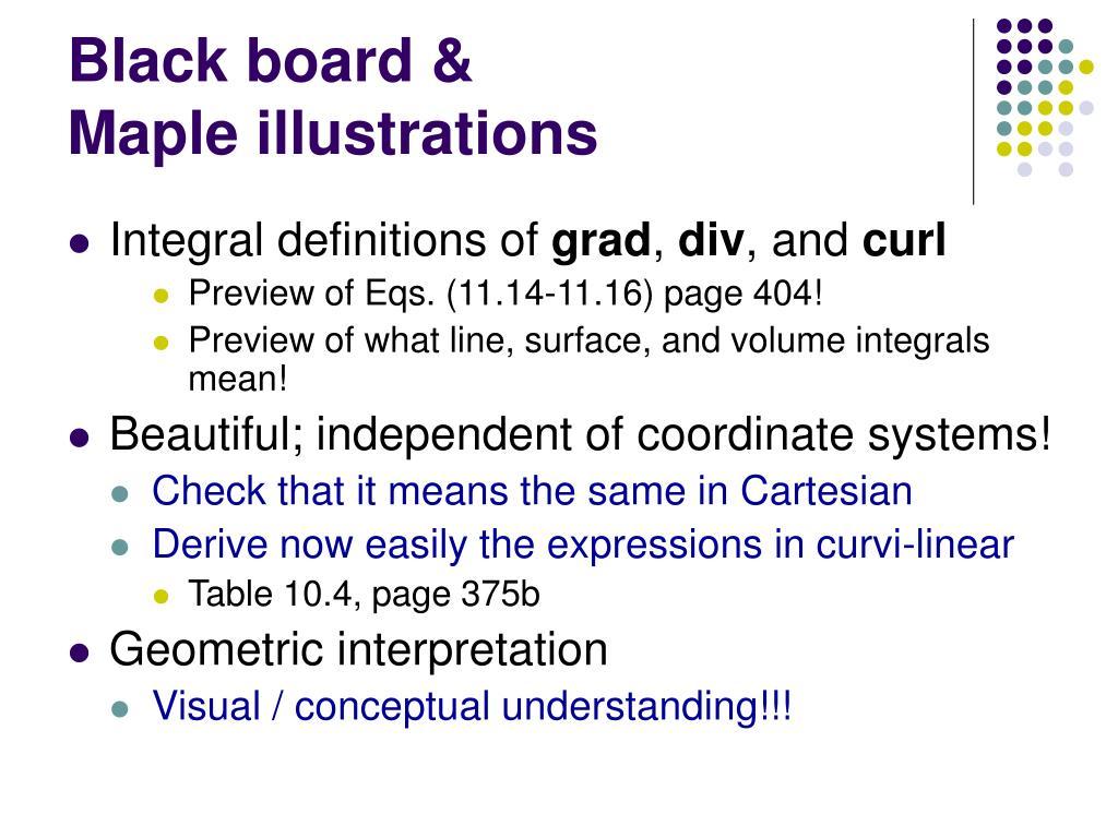 Black board &