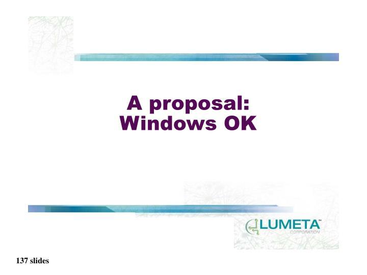 A proposal: