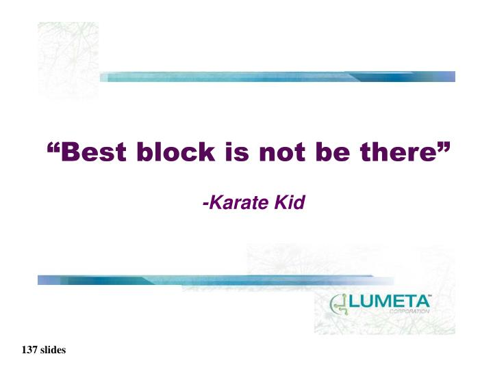 """""""Best block is not be there"""""""