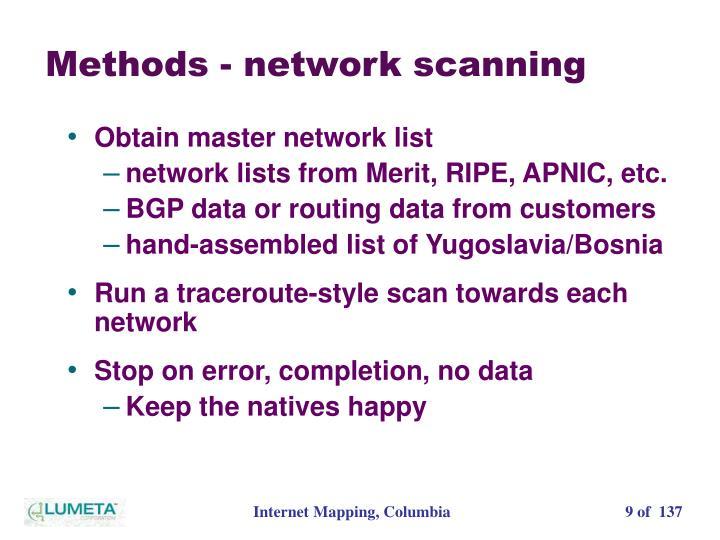 Methods - network scanning