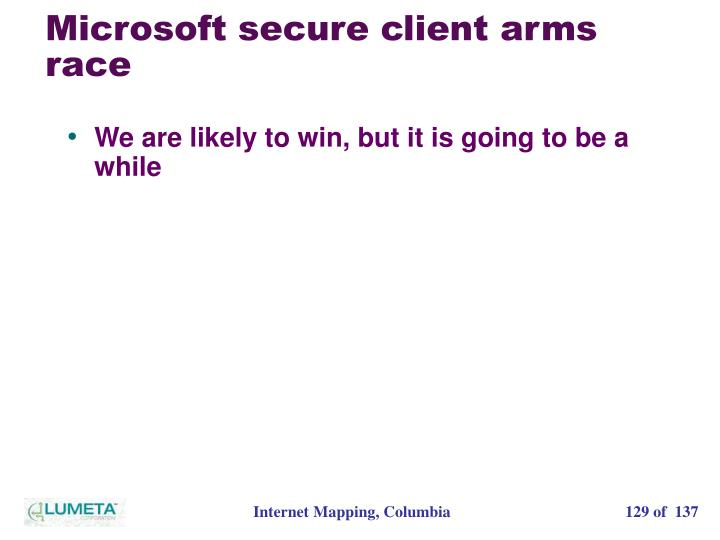 Microsoft secure client arms race