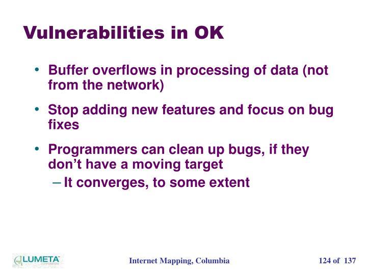 Vulnerabilities in OK