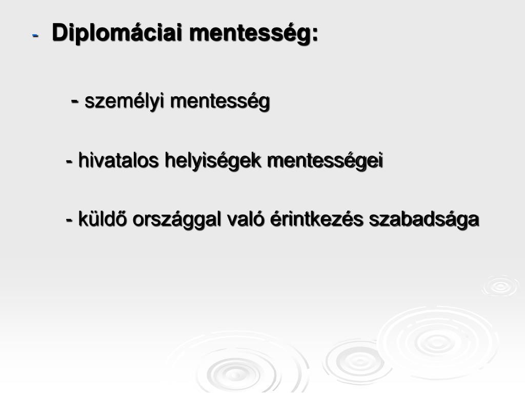 Diplomáciai mentesség: