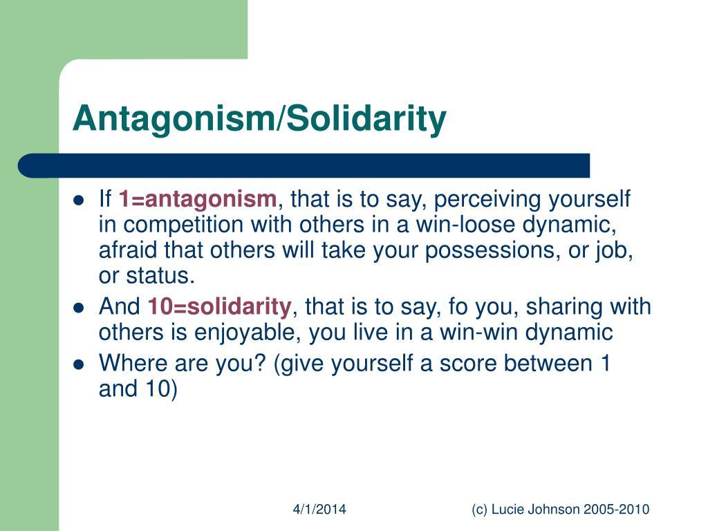 Antagonism/Solidarity
