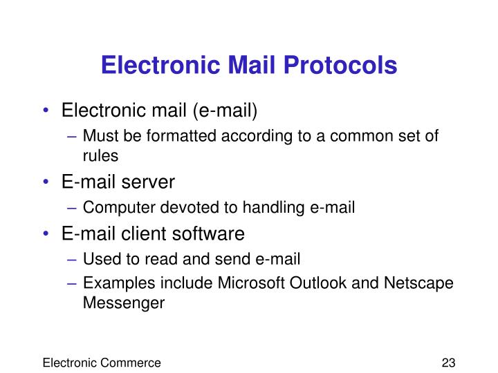 Electronic Mail Protocols