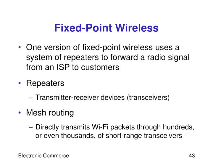 Fixed-Point Wireless