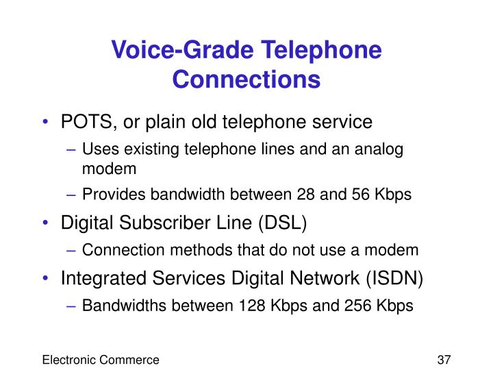 Voice-Grade Telephone Connections