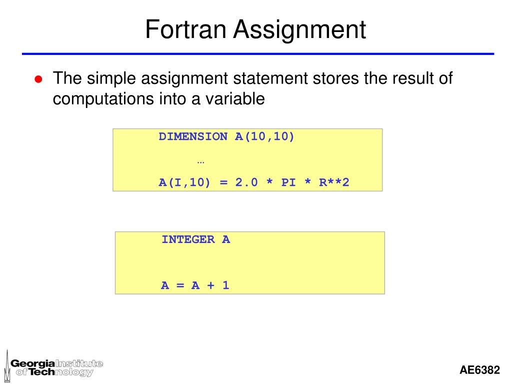 Fortran Assignment