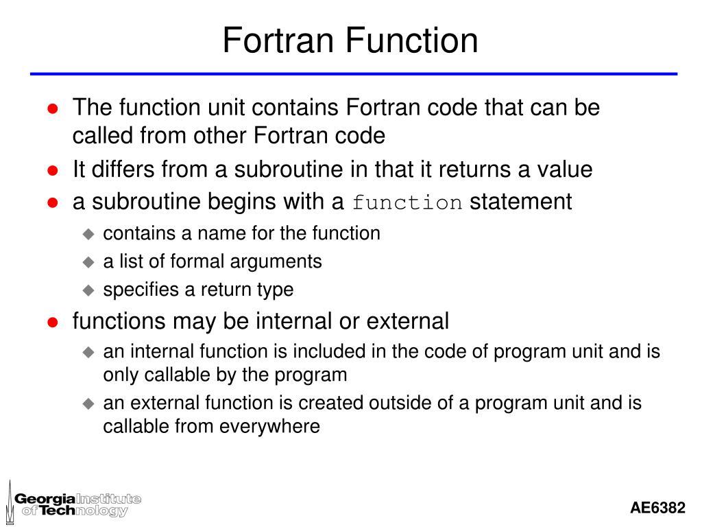 Fortran Function