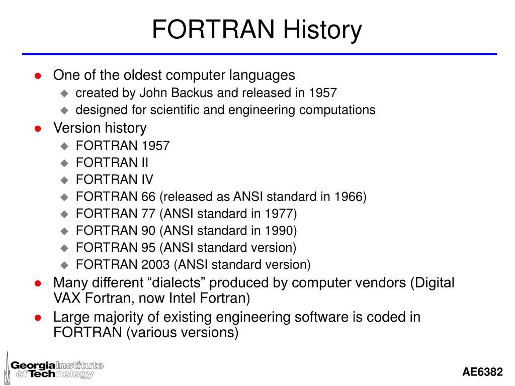 FORTRAN History