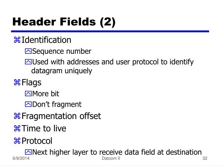 Header Fields (2)