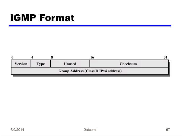 IGMP Format