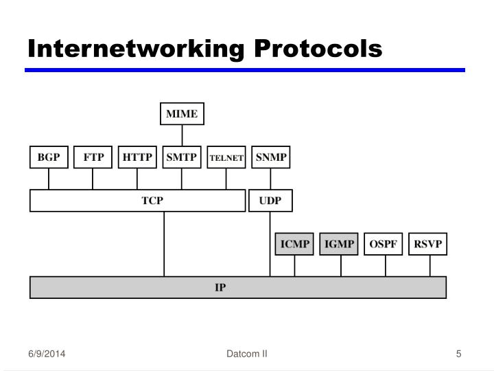 Internetworking Protocols