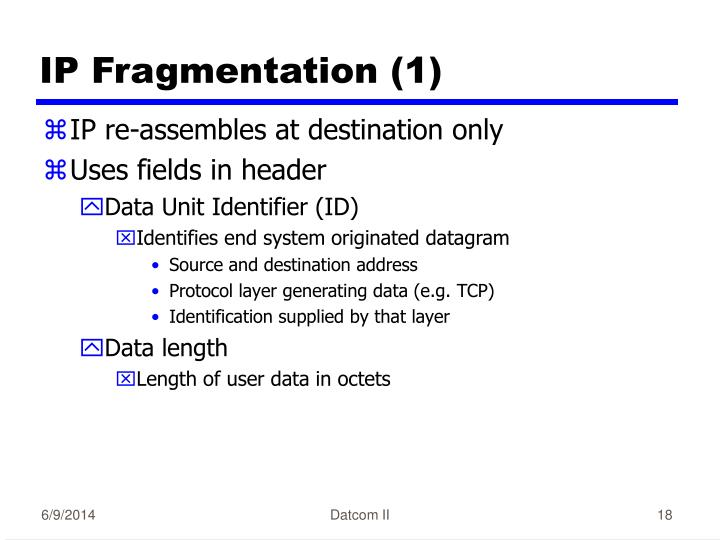 IP Fragmentation (1)