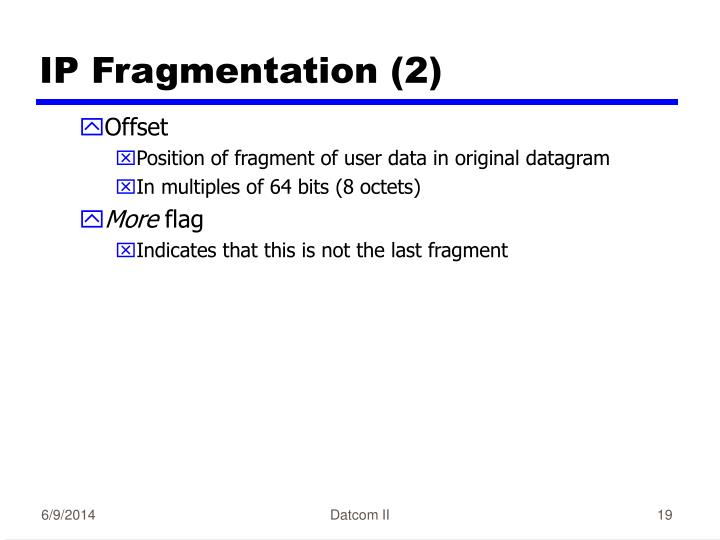IP Fragmentation (2)