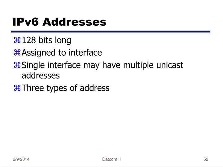 IPv6 Addresses
