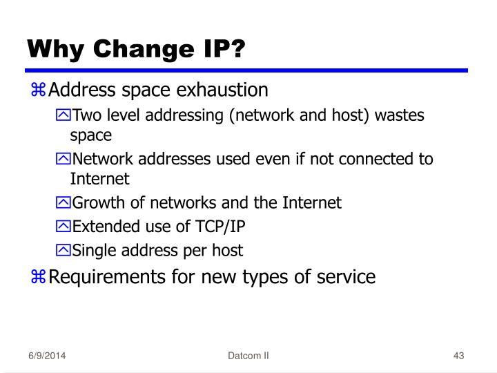 Why Change IP?