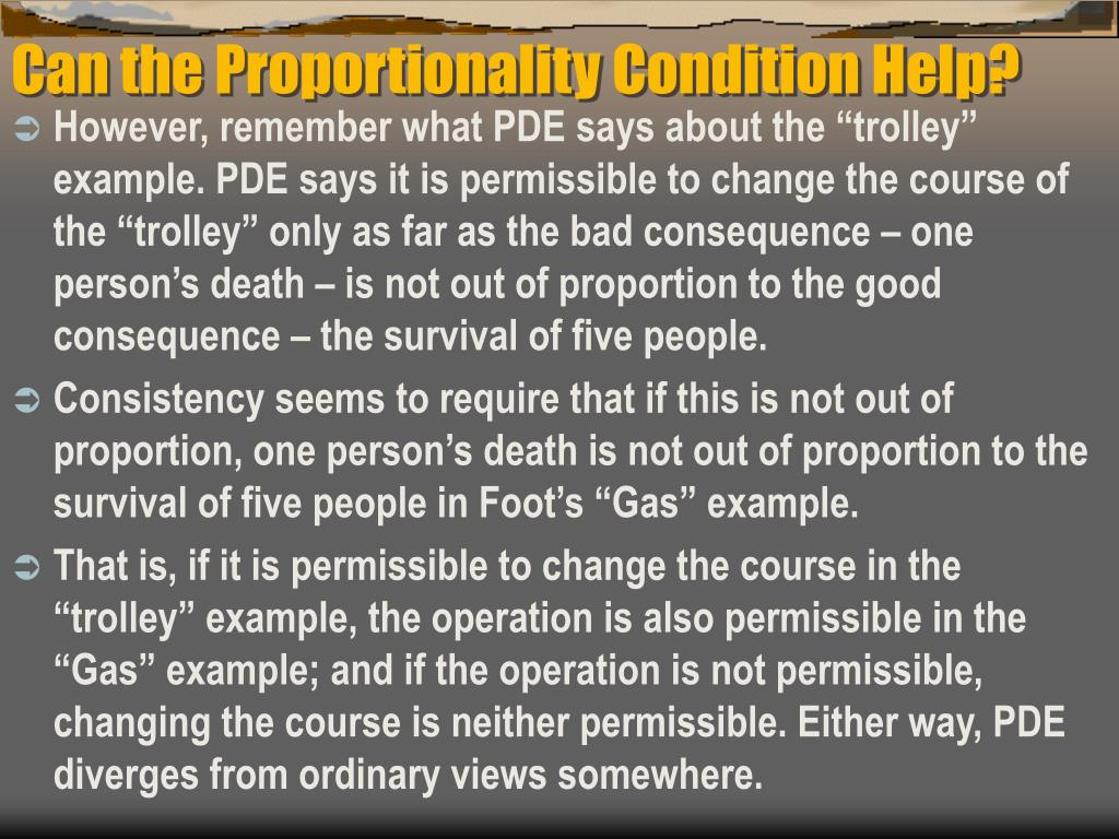 Can the Proportionality Condition Help?