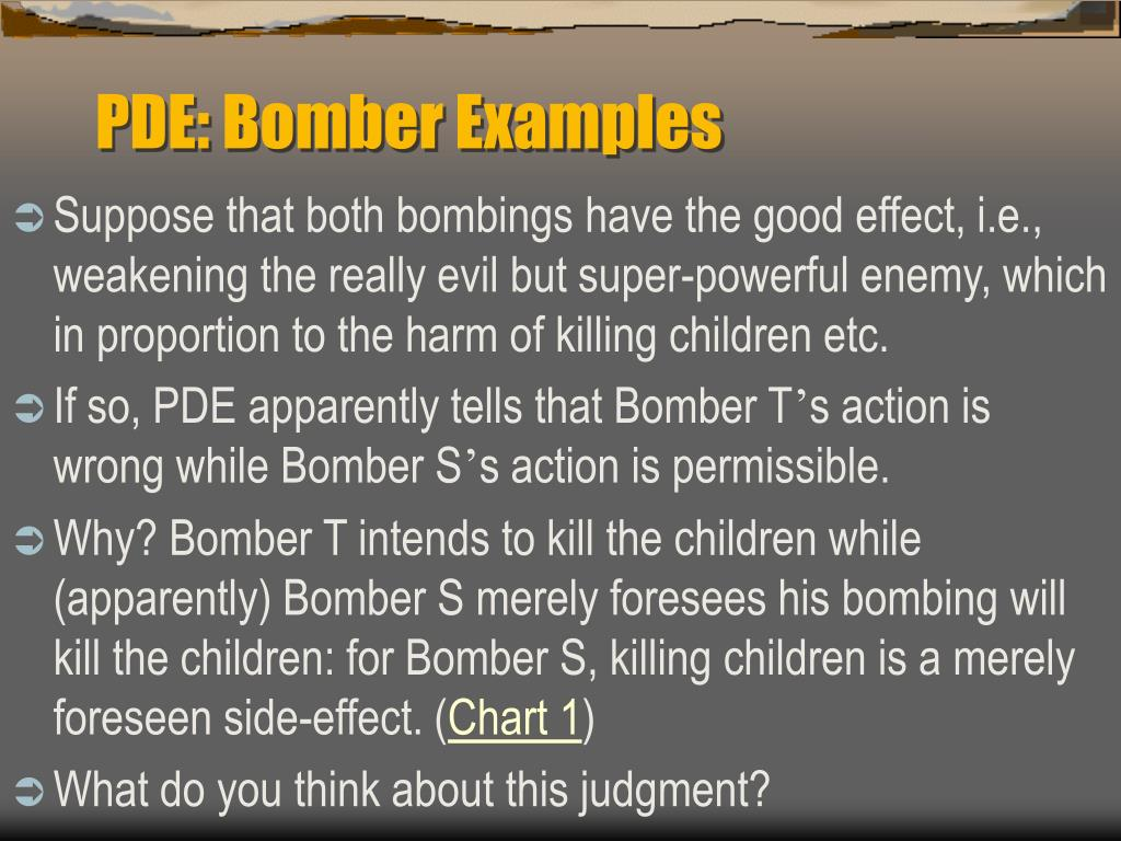 PDE: Bomber Examples