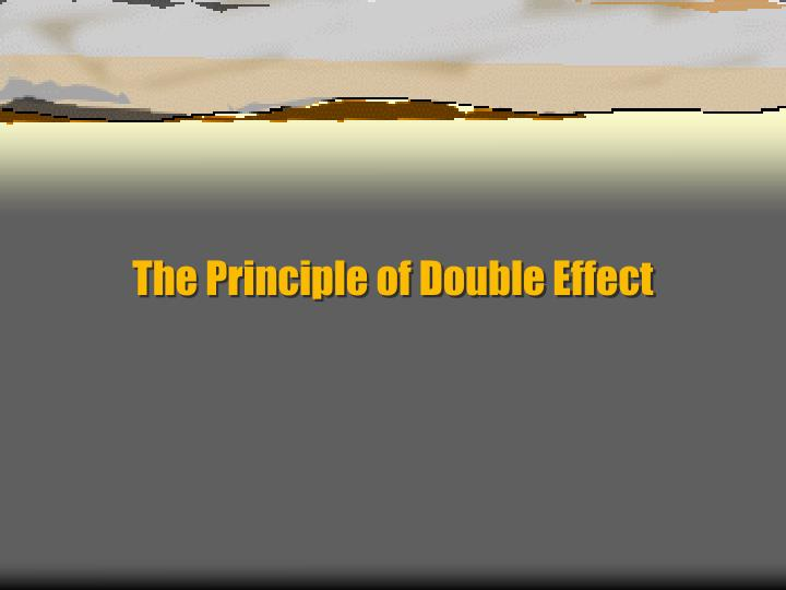 The principle of double effect