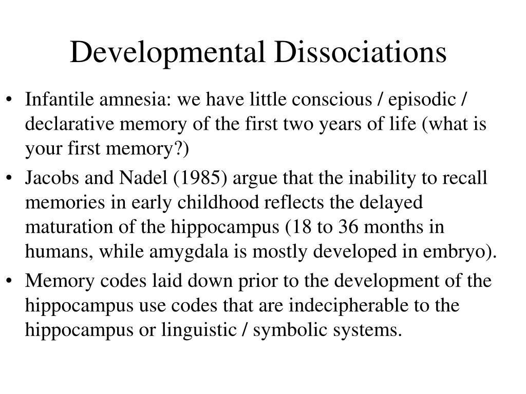 Developmental Dissociations