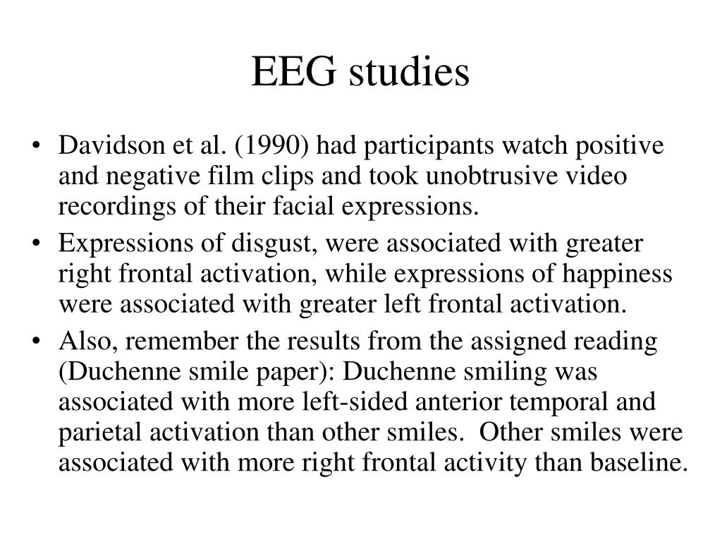 EEG studies