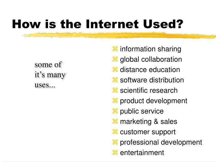 How is the Internet Used?