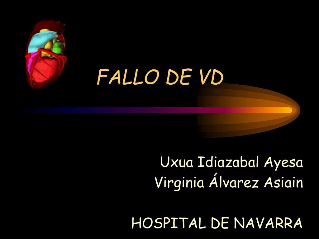 FALLO DE VD